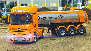 GREAT RC MODEL ACTION!! RC TRUCKS, RC EXCAVATOR, RC MERCEDES-BENZ, RC US TRUCK, SCANIA