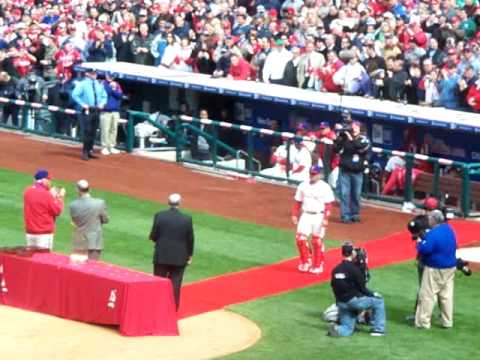 Philadelphia Phillies World Series Ring Presentation - April 8, 2009 Video