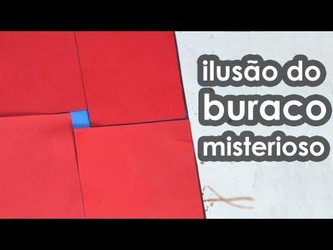 Ilusão do buraco misterioso (ilusão de ótica com geometria)
