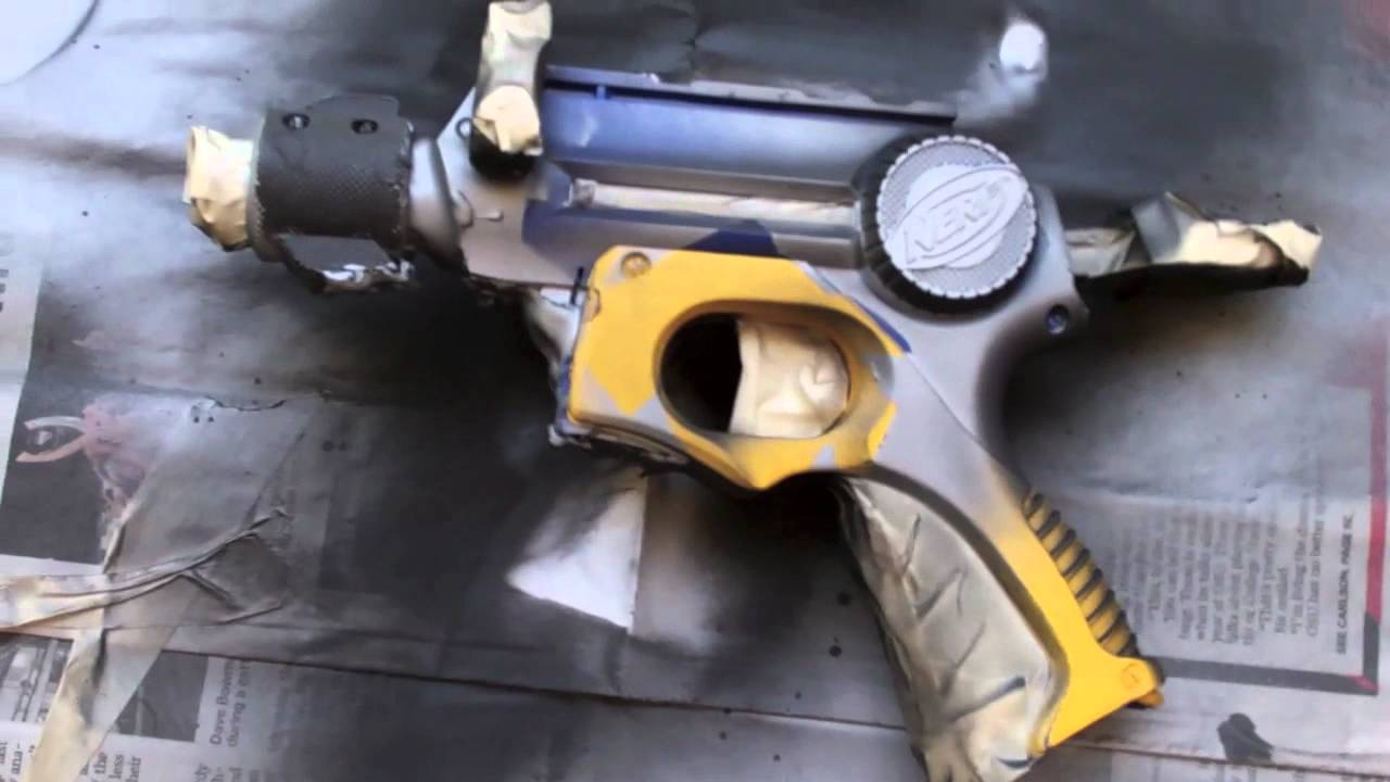 how to paint your nerf gun youtube. Black Bedroom Furniture Sets. Home Design Ideas