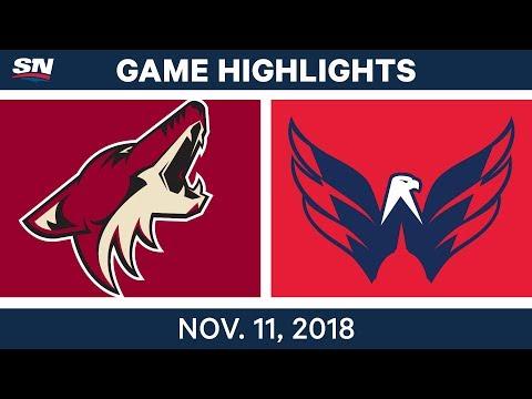 NHL Highlights | Coyotes vs. Capitals – Nov. 11, 2018