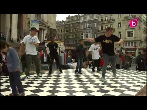 Breakdance pour tous devant la Bourse