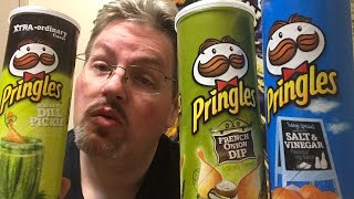 Search for Snacks : Pringle's French Onion Dip , Salt & Vinegar, Dill Pickle chips
