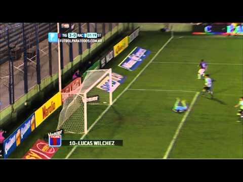 Gol de Wilchez. Tigre 3 - Racing 0. Fecha 3. Torneo Primera División 2014. FPT