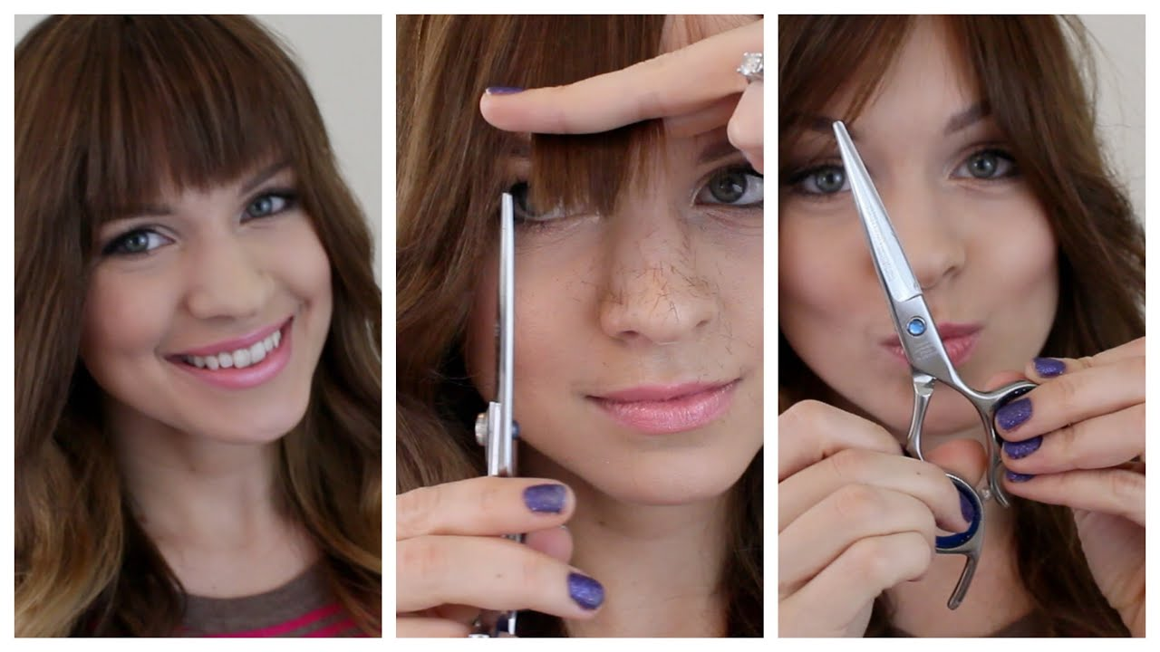 how to cut your bangs dead straight