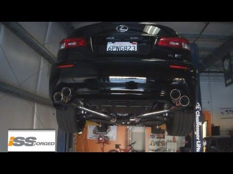 INSANE SOUNDING LEXUS ISF - ISSforged Stainless Cat-Back Exhaust System