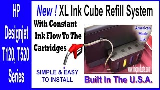 CISS-Continuous Ink Supply System-CIS for HP Designjet T120 Revised Instructions
