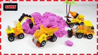 Đồ chơi xe máy xúc cát chở cát động lực xe công trình tí hon mini lego truck car toy for kid