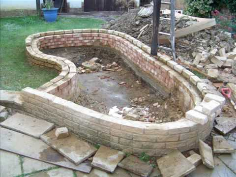 How to build a garden fish pond youtube for Large outdoor fish ponds