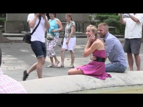 Scarlet and Andrew's Flash Mob Proposal - Washington Square Park, Philadelphia