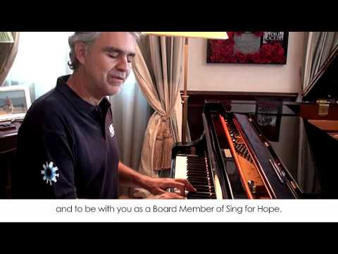 Board Member Andrea Bocelli&#39;s Message of Support for Sing for Hope