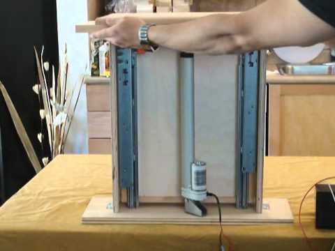 Automated spice rack using linear actuators progressive automations youtube - Tv lift selber bauen ...