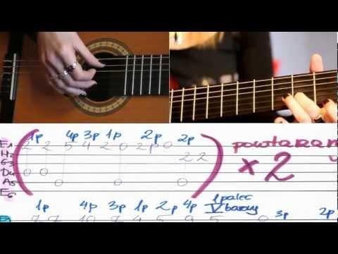 NAUKA GRY NA GITARZE - Jak Zagrać CICHA NOC - TABULATURA - By Instruktorka Gitary