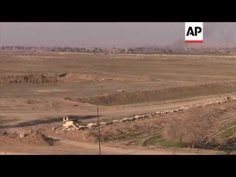 Iraqi troops advancing on Mosul airport