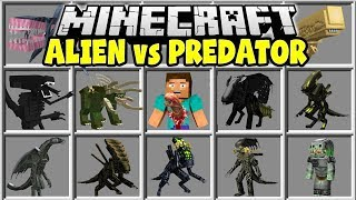 Minecraft ALIEN VS PREDATOR MOD | ALIENS, MARINES, GUNS, PREDATORS & MORE!!