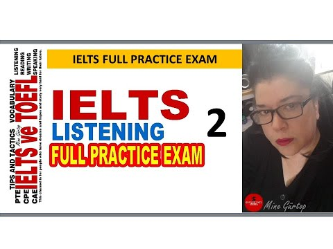 IELTS LISTENING FULL PRACTICE EXAM   2- WITH KEY
