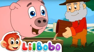 Old MacDonald Had a Farm | Animal Sounds Song | Little BoBo Popular Nursery Rhymes & FlickBox Kids