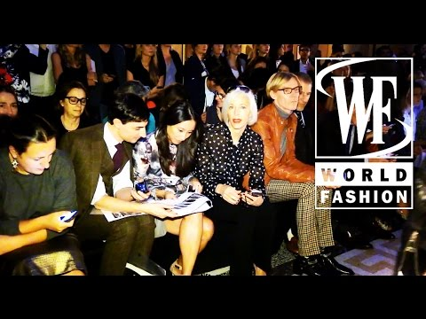 Front Row Aquilano Rimondi Spring-Summer 2015 Milan Fashion Week