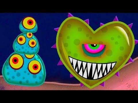 Приключения МОНСТРА СЛИЗНЯКА в городе Mutant blobs attack #4 #крутилкины