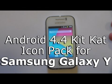 Android 4.4 Kit Kat Icons for Samsung Galaxy Y GT-S5360