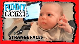 the funny faces of little Giulia - Funny Baby  Maymo's 2019