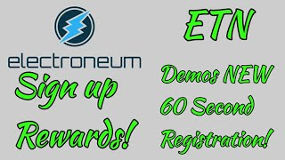 Electroneum Teases 60 Second Onboarding! + Reward System!