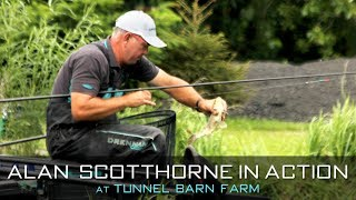 Alan Scotthorne In Action At Tunnel Barn Farm