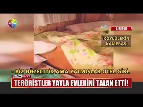Teröristler yayla evlerini talan etti!