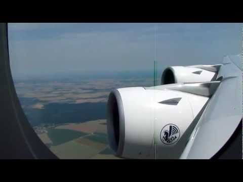 Air France A380 takeoff Paris Charles De Gaulle Intl