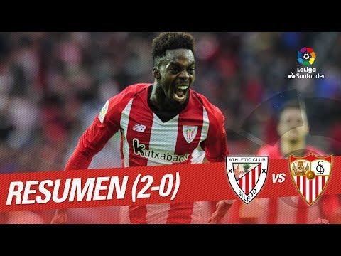 Resumen de Athletic Club vs Sevilla FC (2-0)
