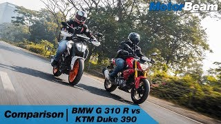 BMW G 310 R vs KTM Duke 390 - Street Brawl | MotorBeam