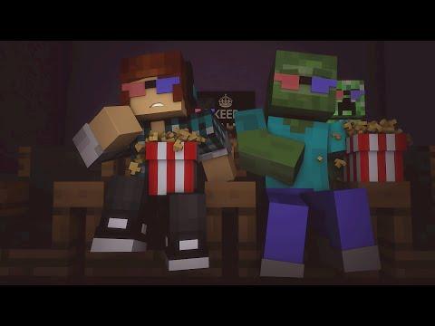 Minecraft Escola Monstro #30 - Filmes Dos Monstros !!  Monster School video