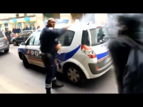 Amateurvideo aus Paris: Angriff auf Polizisten