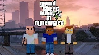 Trailer GTA 5 in Minecraft/Трейлер GTA 5 в Minecraft