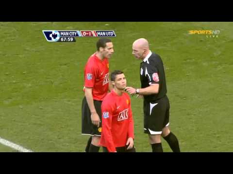 Howard Webb Giving Cristiano Ronaldo a Red Card