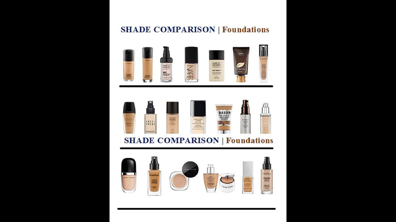 FOUNDATIONS | My SHADE Matches and SWATCHES - YouTube