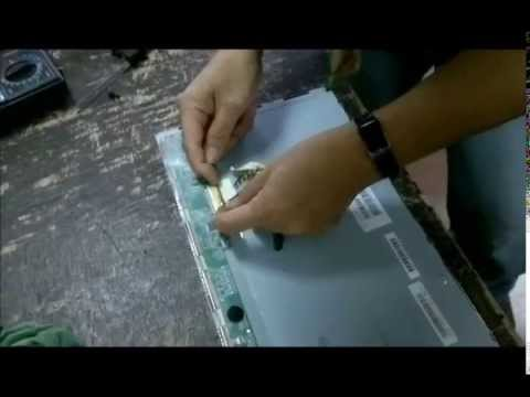 Lcd Tv Repair >> aoc lcd computer monitor repair white screen problem - YouTube