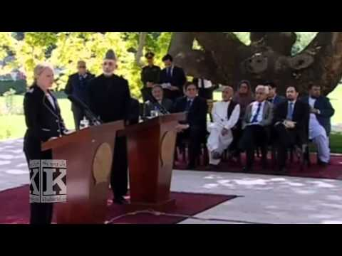 Karzai and Hillary Clinton in kabul,U.S. Declares Afghanistan Mmajor Non-NATO Ally