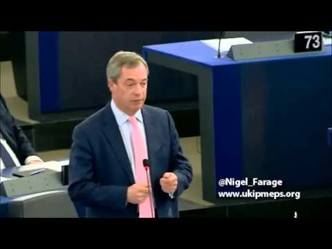 UKIP leader Nigel Farage - Greek election result 2015