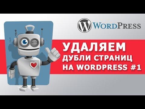 Как избавиться от дублей в Wordpress внутренняя SEO оптимизация