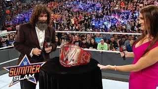 Stephanie McMahon & Mick Foley reveal the new WWE Universal Title: Exclusive, Aug. 21, 2016