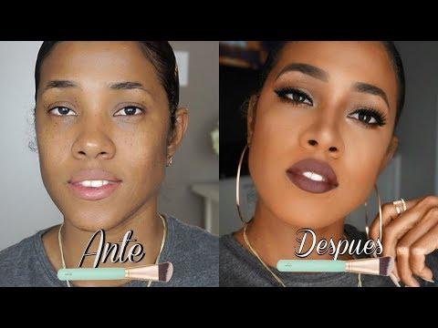 Tutorial De Maquillaje muy fácil Para Piel Morena/Oscura 💋 💋