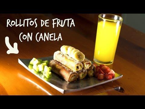 Rollitos de fruta con canela, sin horno!! (Juno)