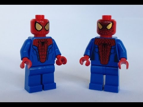 LEGO Spider-Man Minifigure Comparison Review