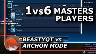 StarCraft 2: Beastyqt (Z) 1 vs 6 (T) Master Players in Archon Mode - INSANE Challenge!