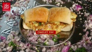Omelette Pav - Egg Bread   Mumbai Street Food - Area Mumbai Central   Indian Street Food
