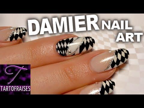 Nail Art Damier Noir Blanc