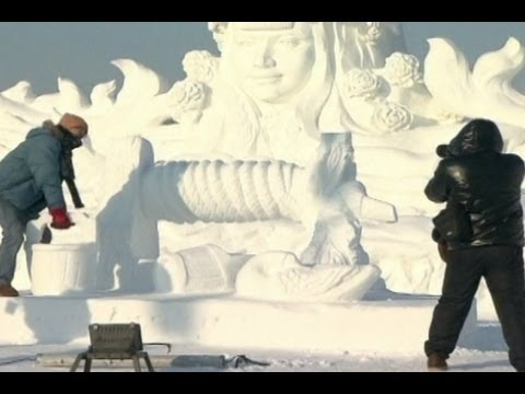 Snow Sculptures in China's Northern Heilongjiang Province