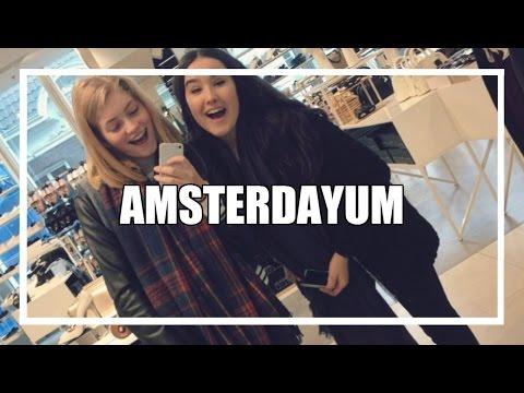 Shoppen en filmen in Amsterdam