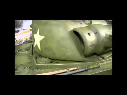 RC 1/6th scale Vantex M4A3 sherman tank project completion HD video part 2